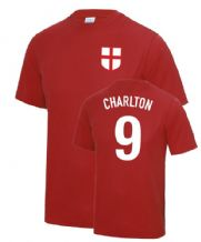 Bobby Charlton 1966 England Fancy Dress Football T Shirt